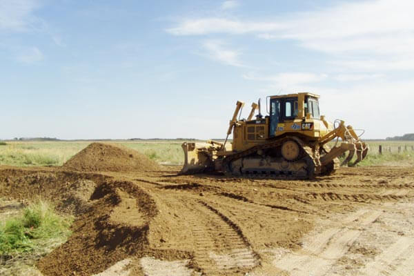 Bulldozer Road Construction
